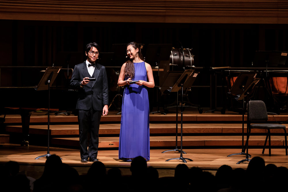 Serving as emcees for the gala concert were Jade Tan Shi Yu and Mick Lim ('18, Composition, Peabody-YST Joint Degree, double major in European Studies)