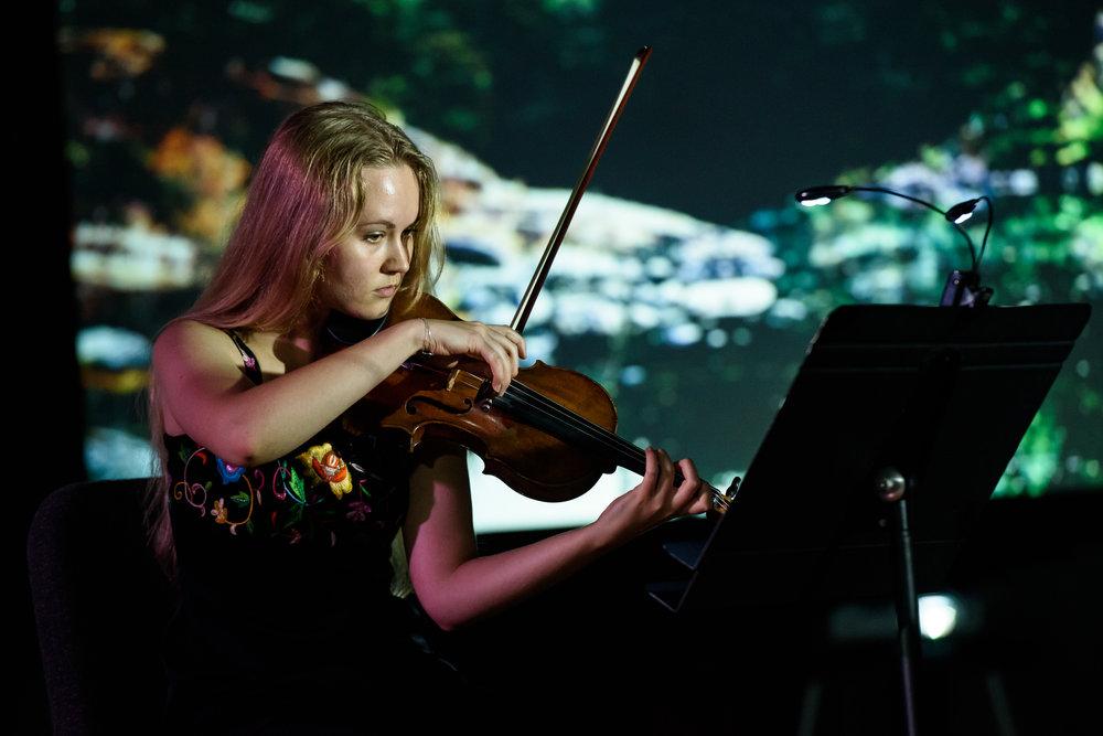 Eliza Basoff ('19) in performance.