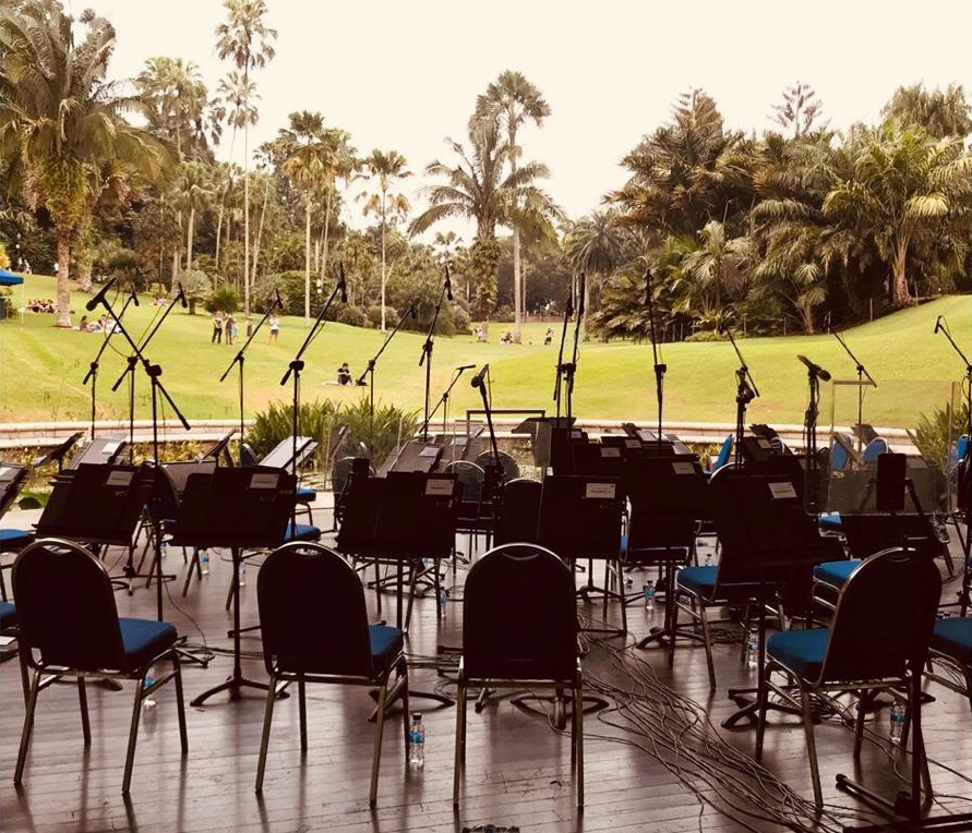 Pre-show at the Botanic Gardens Shaw Foundation Symphony Stage