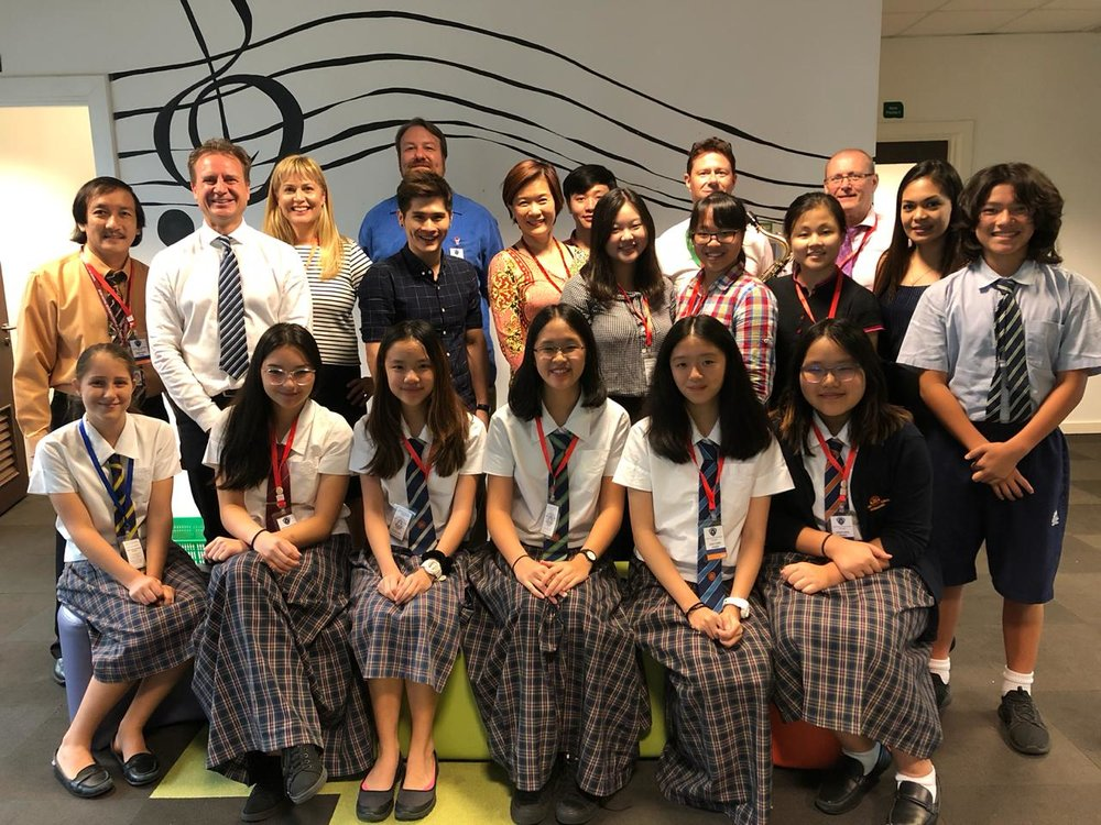 With staff and students from International School Brunei and Jerudong International School.