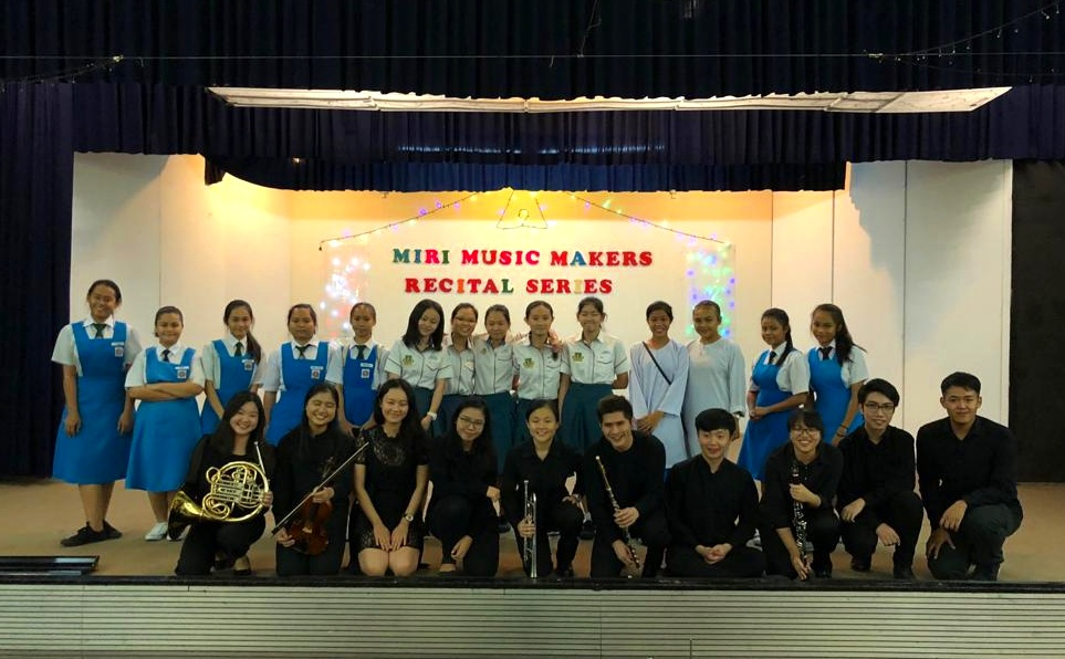 The YST team and choir members from Miri at the final recital.