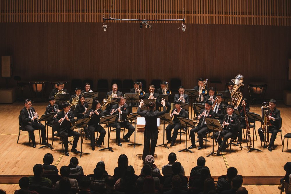 The two SOA instrumental groups in concert.