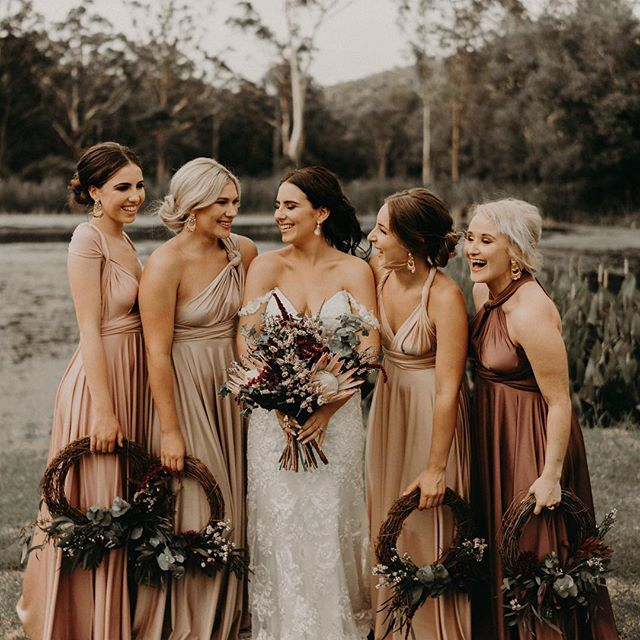 Having a laugh with the bride tribe, from a favourite wedding last year