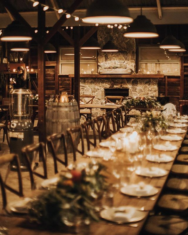 Receptions in an old barnshed are definitely the go'er