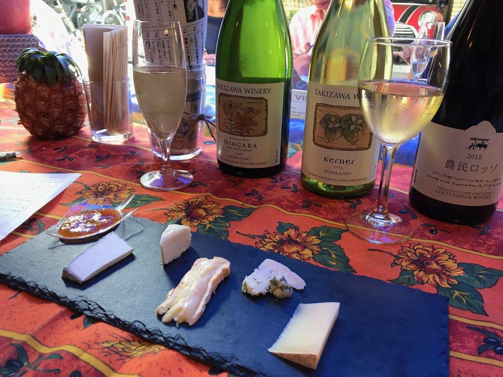 Japanese cheese tasting with Hokkaido wine