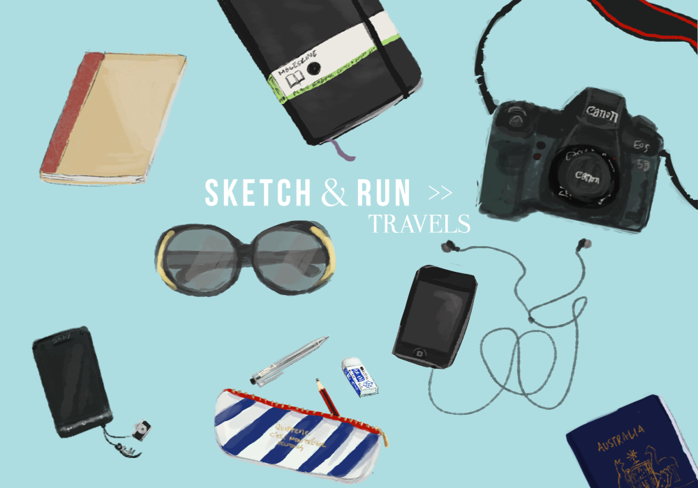 Carry on, luggage, MUJI, canon, moleskine, iPod, travel, travel essentials