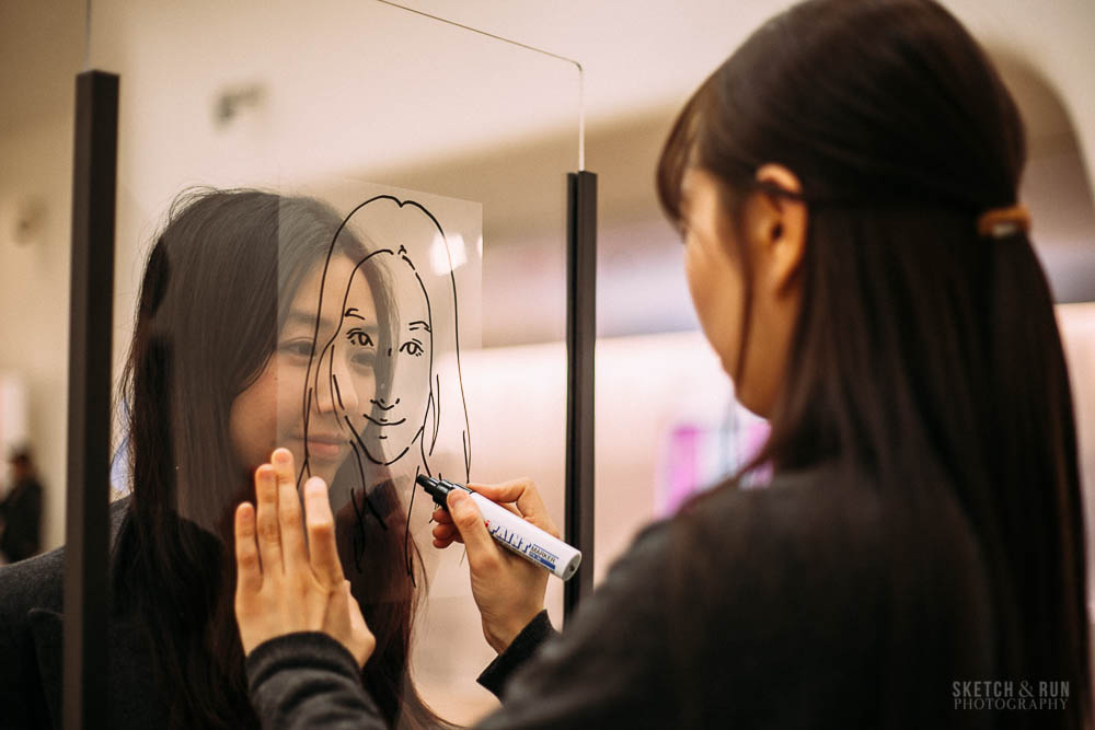 face to face portrait, dongdaemun design plaza, seoul, korea, portrait, artist, sketch and run