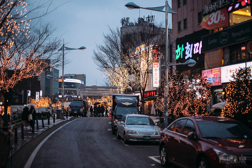 hongdae, seoul, korea, travel, sketch and run, streets, street photography