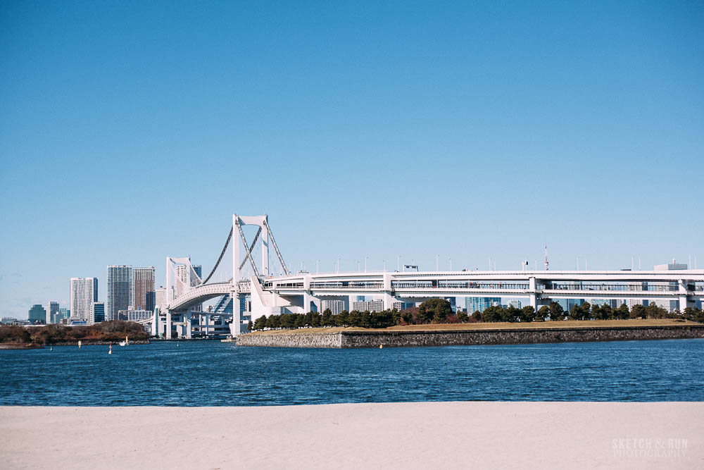 odaiba, tokyo, sketch and run, travel, travel photography
