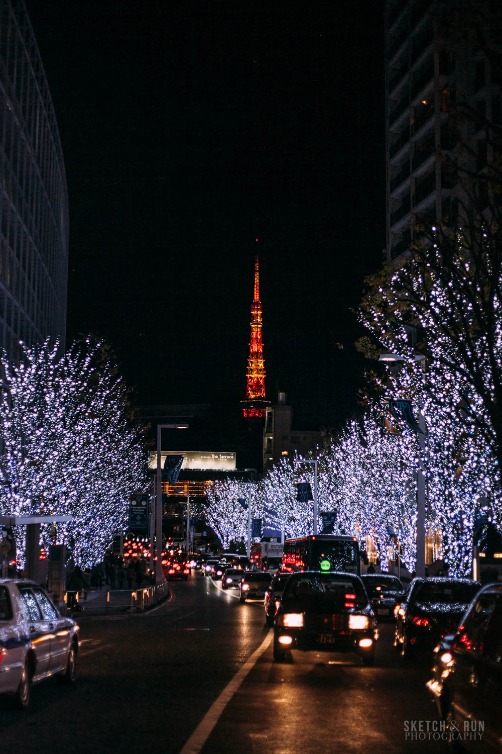 roppongi, roppongi illuminations, christmas light, tokyo, japan, christmas, tokyo tower, travel, travel photography, sketch and run