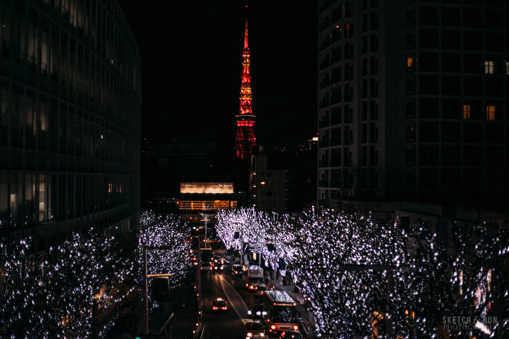 roppongi, roppongi illuminations, christmas light, tokyo, japan, christmas, tokyo tower, travel, travel photography, sketch and run, tokyo tower
