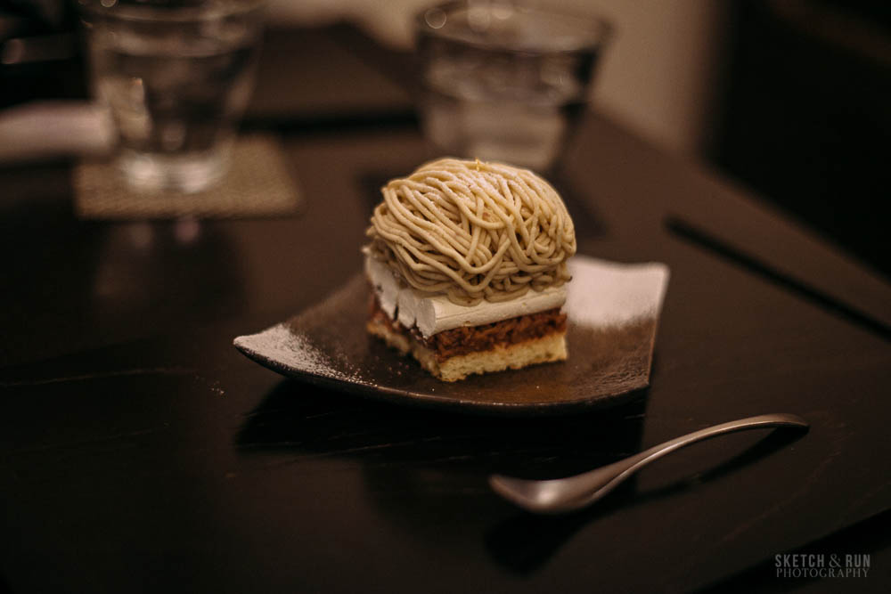 waguriya, dessert, japan, tokyo, yanaka ginza, traditional, sweet, sketch and run, mont blanc, chestnut, food