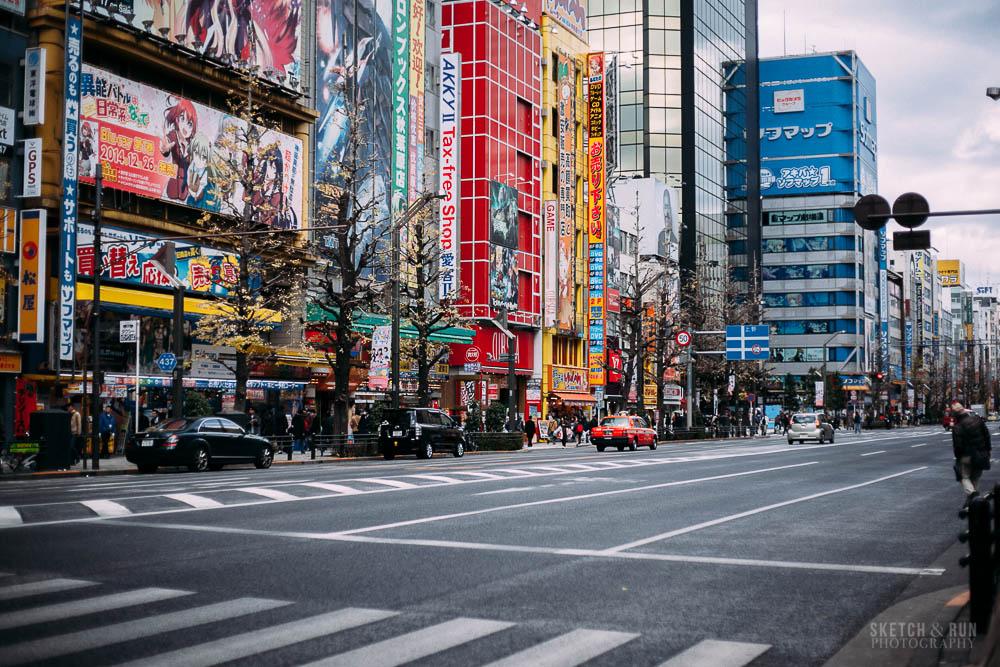 akihabara, akiba, tokyo, japan, travel, sketch and run