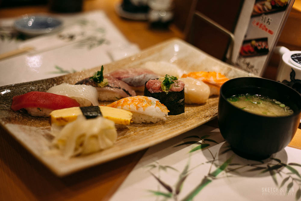 uoriki kaisen sushi, sushi, tokyo, food, japan, sketch and run