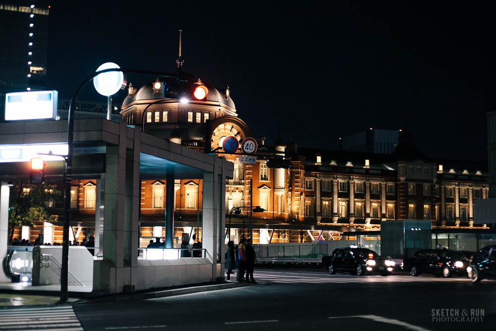 tokyo station, tokyo, japan, sketch and run, travel