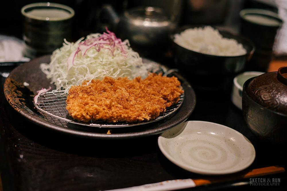 tonkatsu, food, restaurant, tokyo, sketch and run