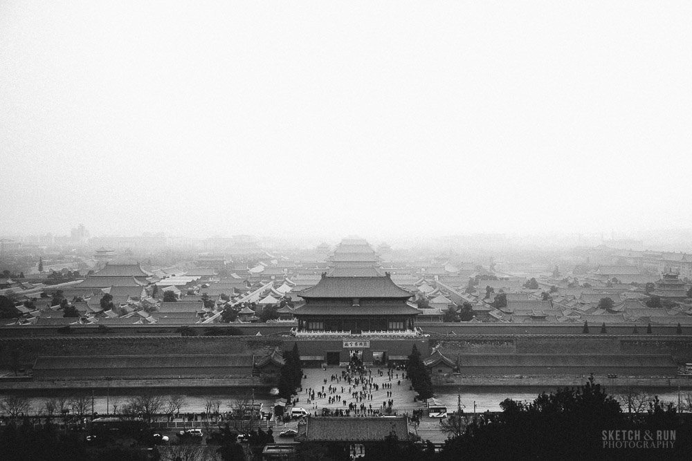 forbidden city, beijing, china, gu gong, travel, sketch and run