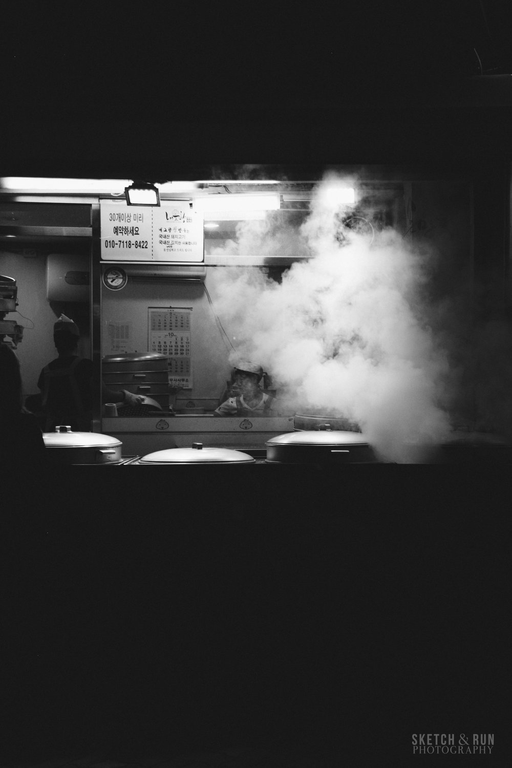 seoul, south korea, street photography, photography, food, black and white
