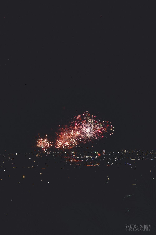 sparklers, dark, pattern, fireworks