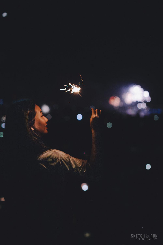 sparklers, dark, pattern