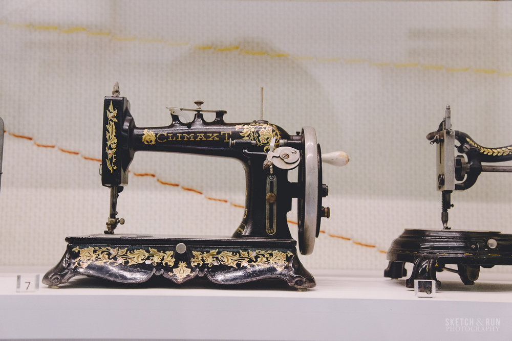 melbourne museum, vintage, sewing machine