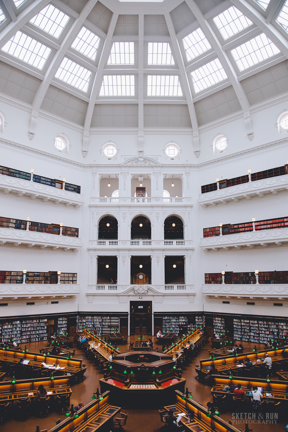 state library of victoria, la trobe reading room, architecture, symmetry, melbourne