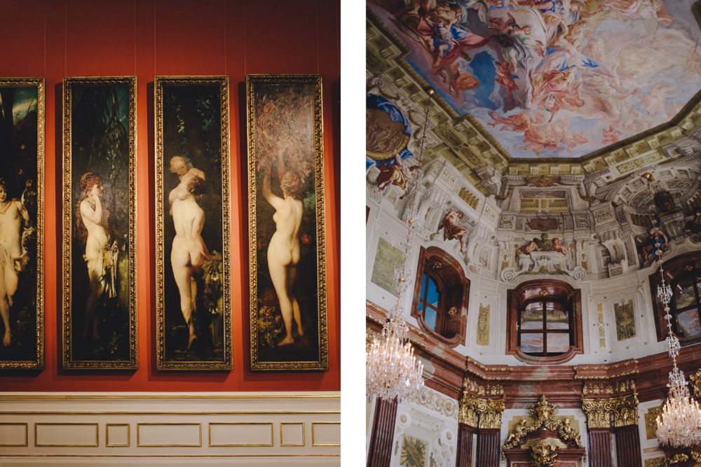 Belvedere palace, artworks, interior design