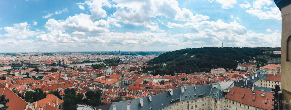 prague, st vitus church, czech republic, panorama, landscape, cityscape