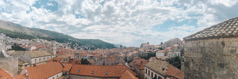 croatia, dubrovnik, landscape, panorama, europe, travel