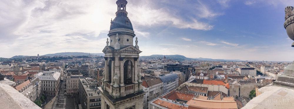 budapest, hungary, landscape, panorama, cityscape, st stephens basilica