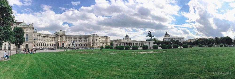 vienna, austria, landscape, panorama, museumsquartier