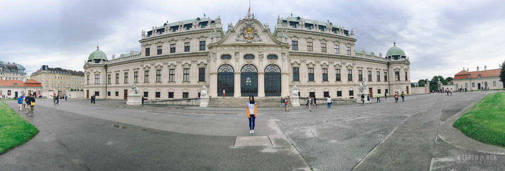 vienna, austria, europe, landscape, panorama, belvedere palace, belvedere