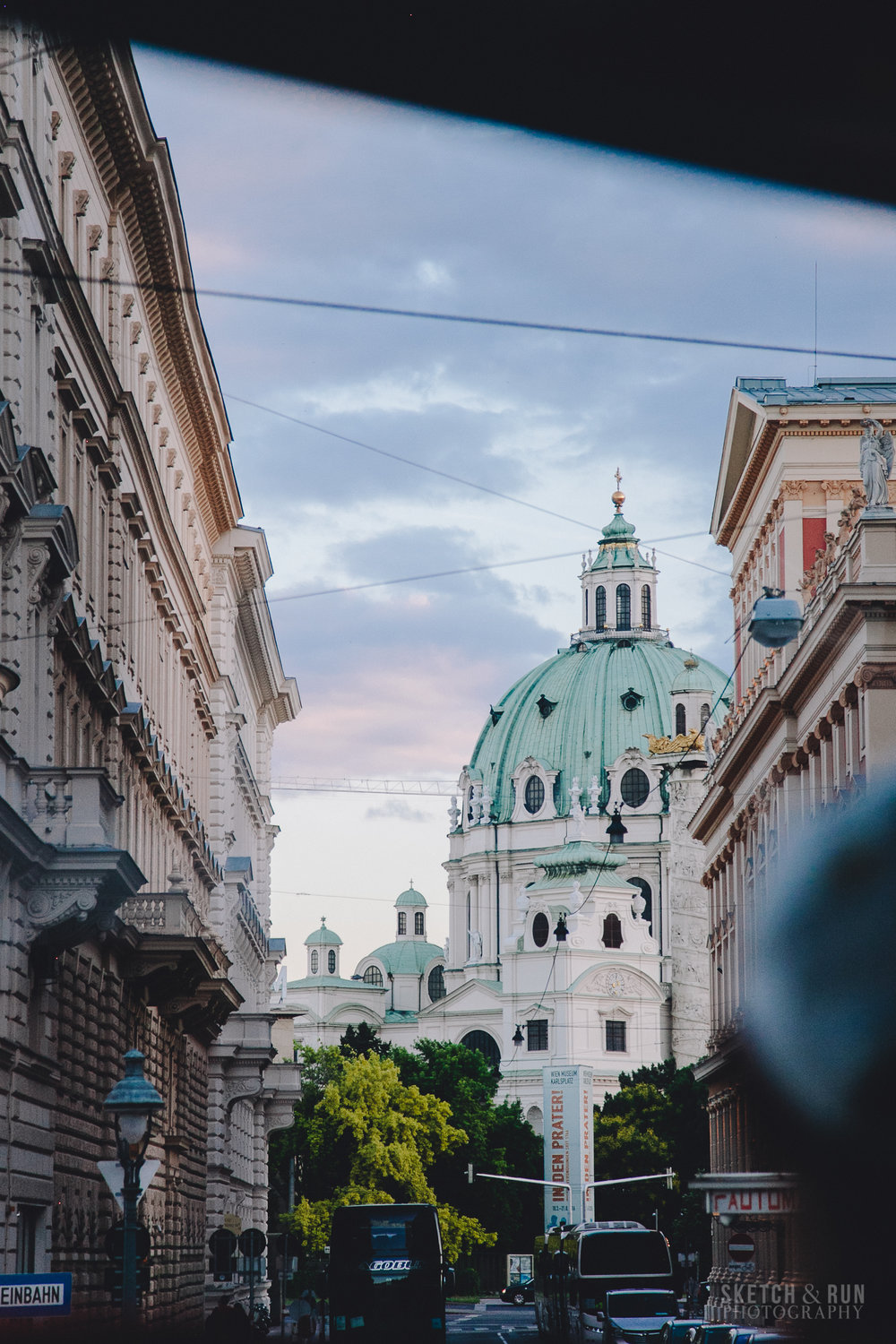 Vienna, Austria, teal dome, street photography