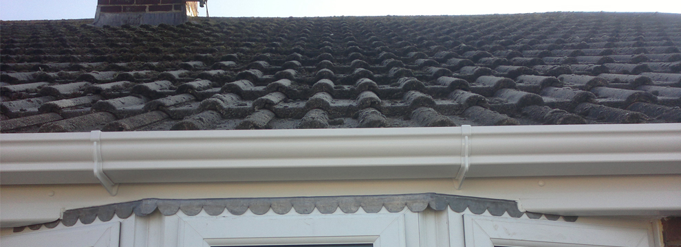 We can replace these with pristine, sparkling, guttering & fascias...