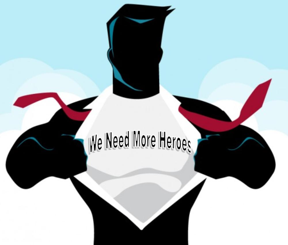 Hero break out of shirt We Need More Heroes