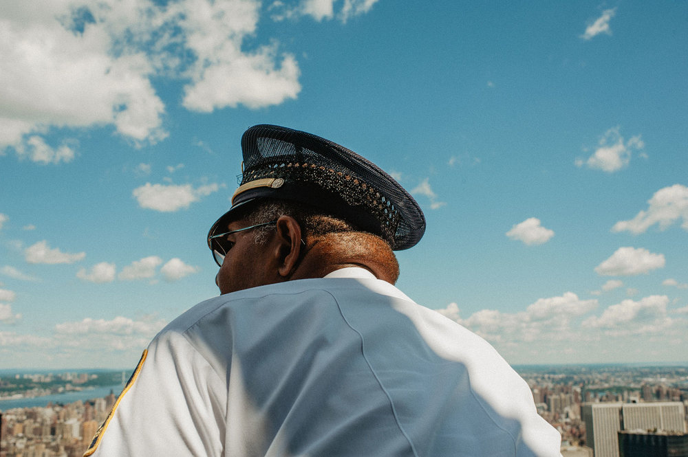 Guard on Rockefeller Building - New York