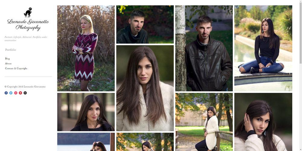 Leonardo Giovanatto Photography Home page, dec 2016