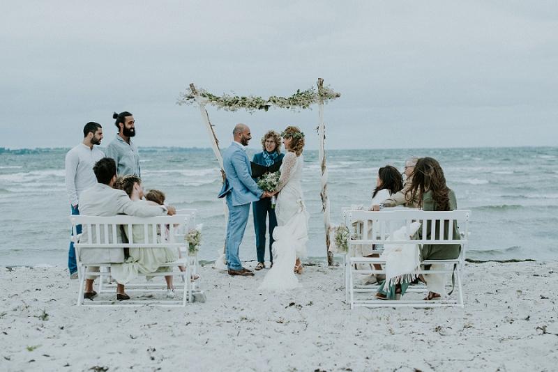 Vart & Rabih: Intimate Beach Wedding in Denmark — Danish Island ...