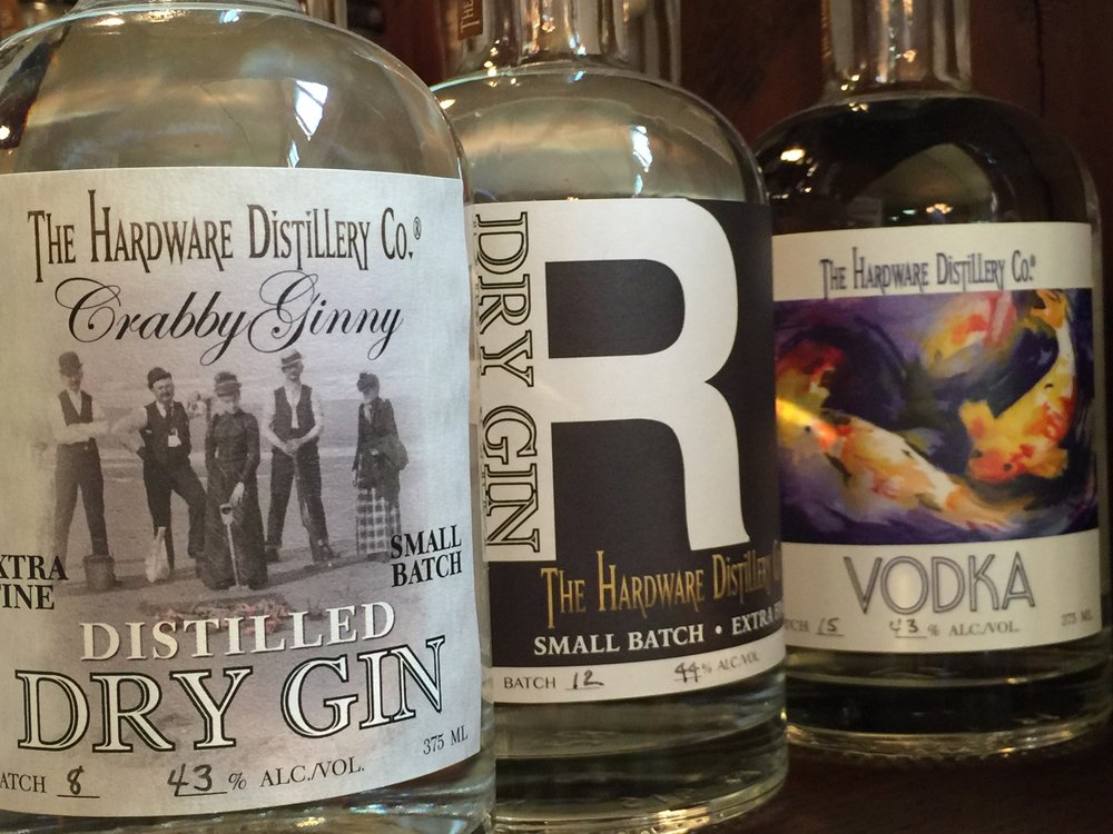Hardware Distillery's unique labels