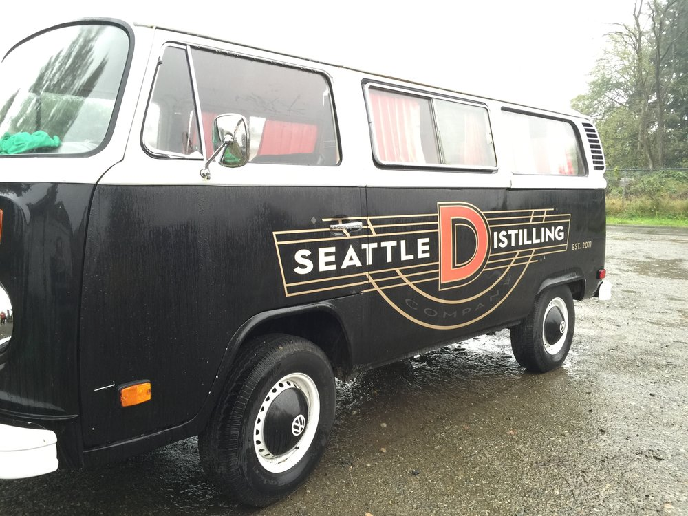 The distinctive Seattle Distilling bus.