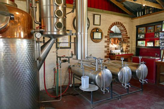 The 700 litre still at Wilderer Distillery