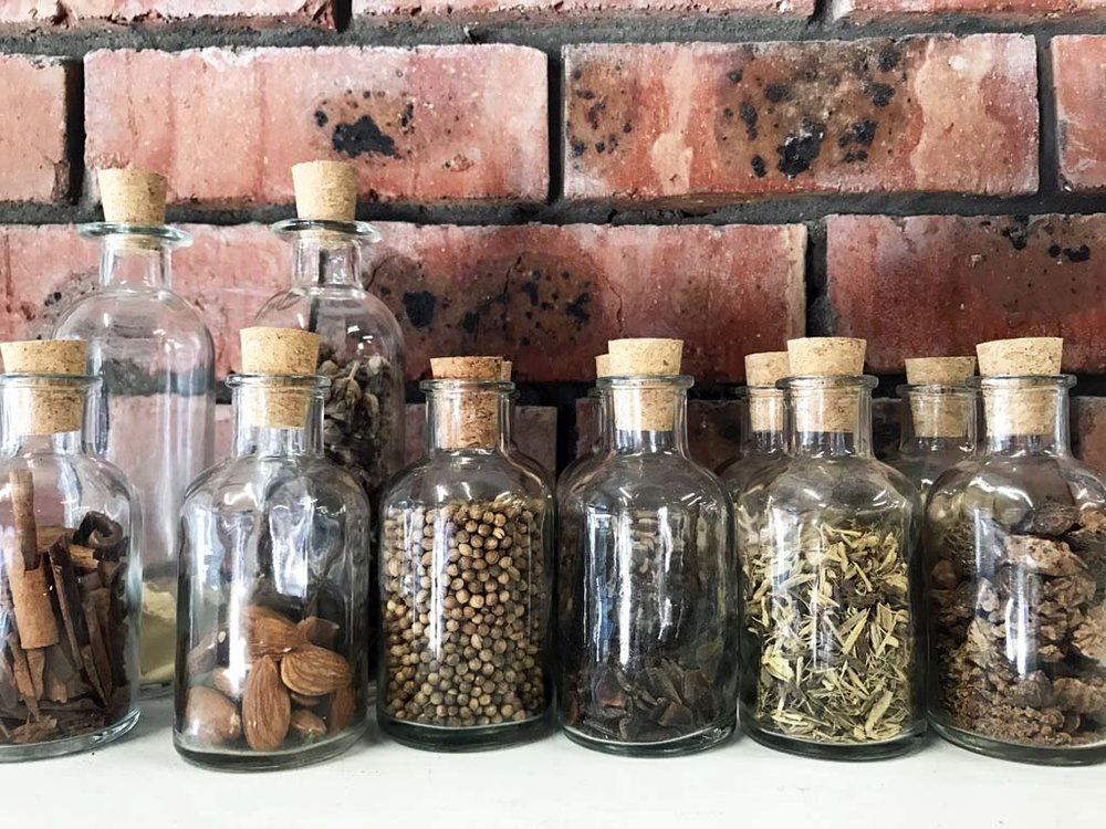 Botanicals ready for the next batch of gin