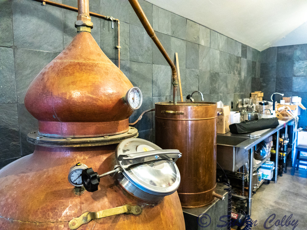 Sidetrack Distilleries Portuguese copper still