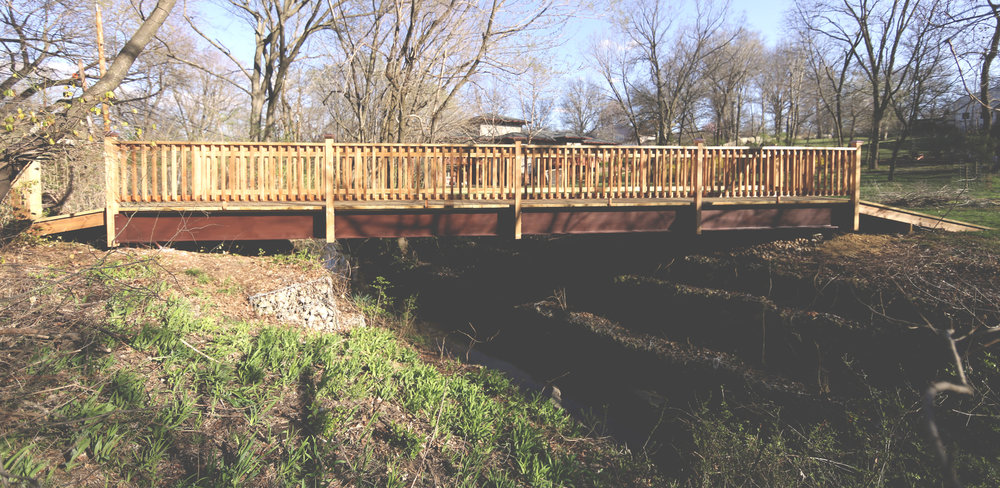 We had the opportunity to replace a residential bridge in Leawood.