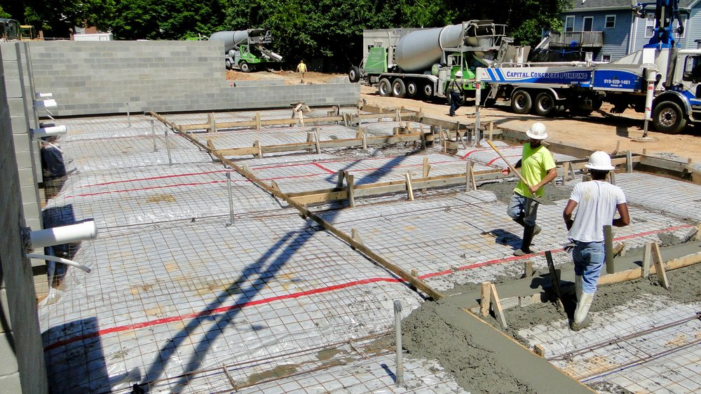 537 New Bern Ave (Units 6-10) - Prepping for slab pour.