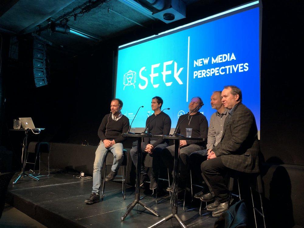 SEEK Panel debate with Kristian Mosvold, Ali Zaraiee, Kåre Vedding Poulson,Christian Fonnesbech &Fredrik Graver