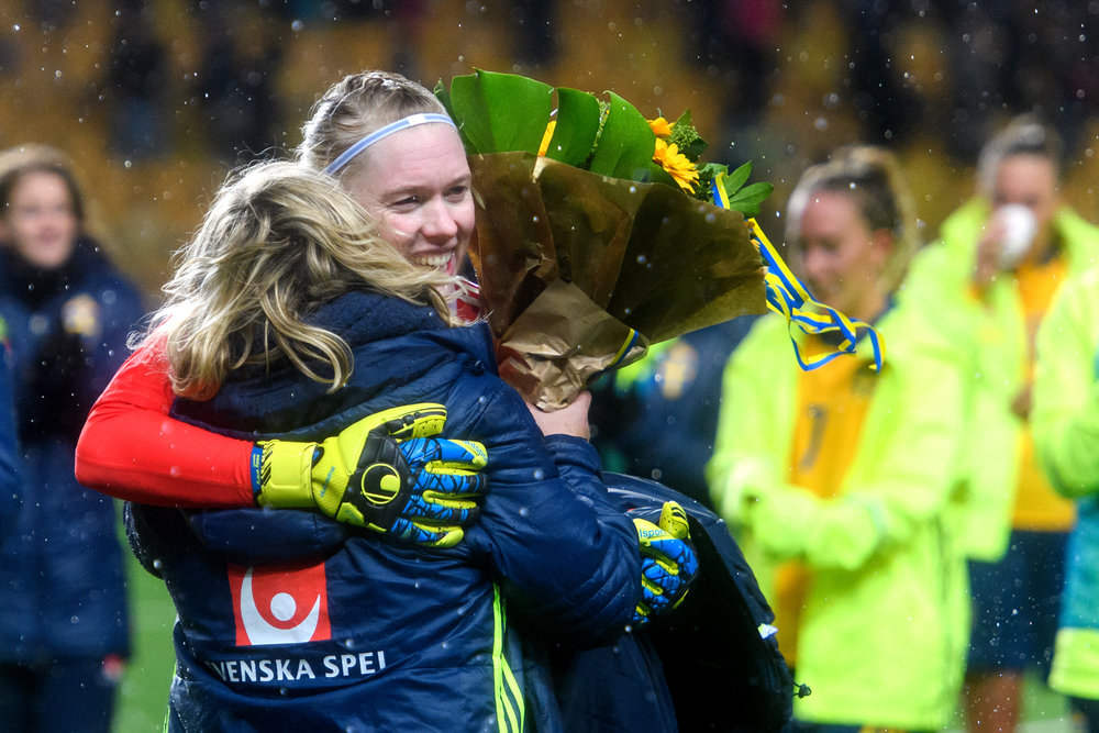 The historic occasion when I beat the old GK-record in Sweden, previously held by Thomas Ravelli. Pic by Bildbyrån.se.