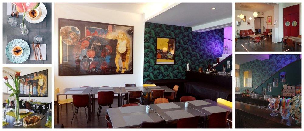 Il ristorante interno agli Erreci Studios.