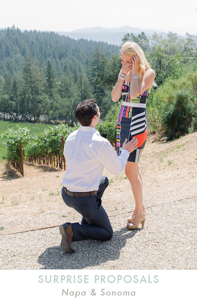 Surprise Proposal Photography Napa