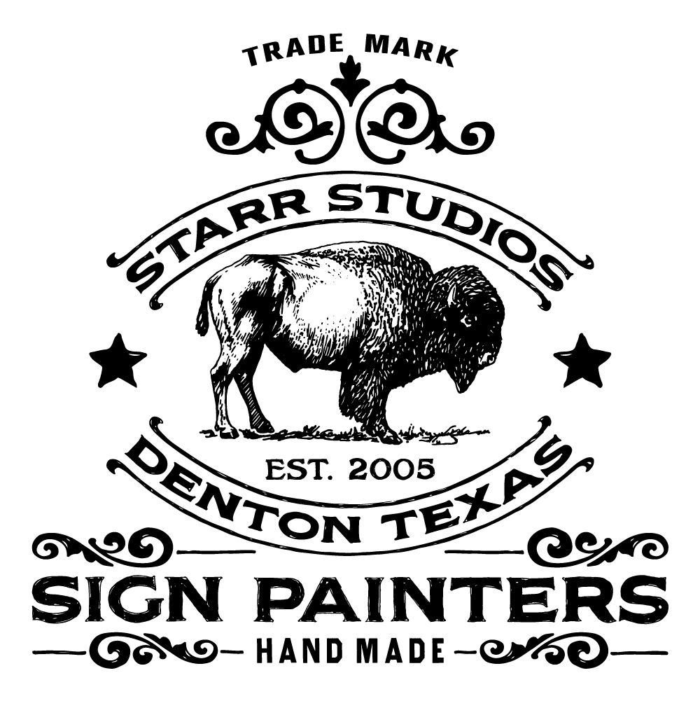 Sign Painting by Starr Studios: Dallas Fort Worth Sign Painters